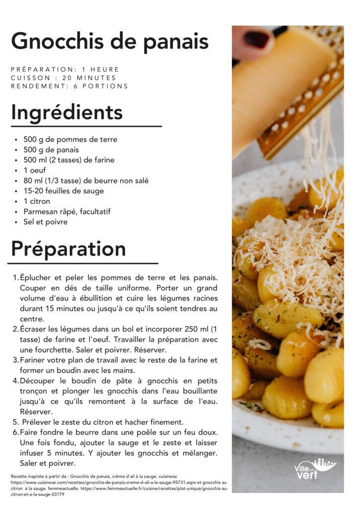 recette jardin : Gnocchis de panais