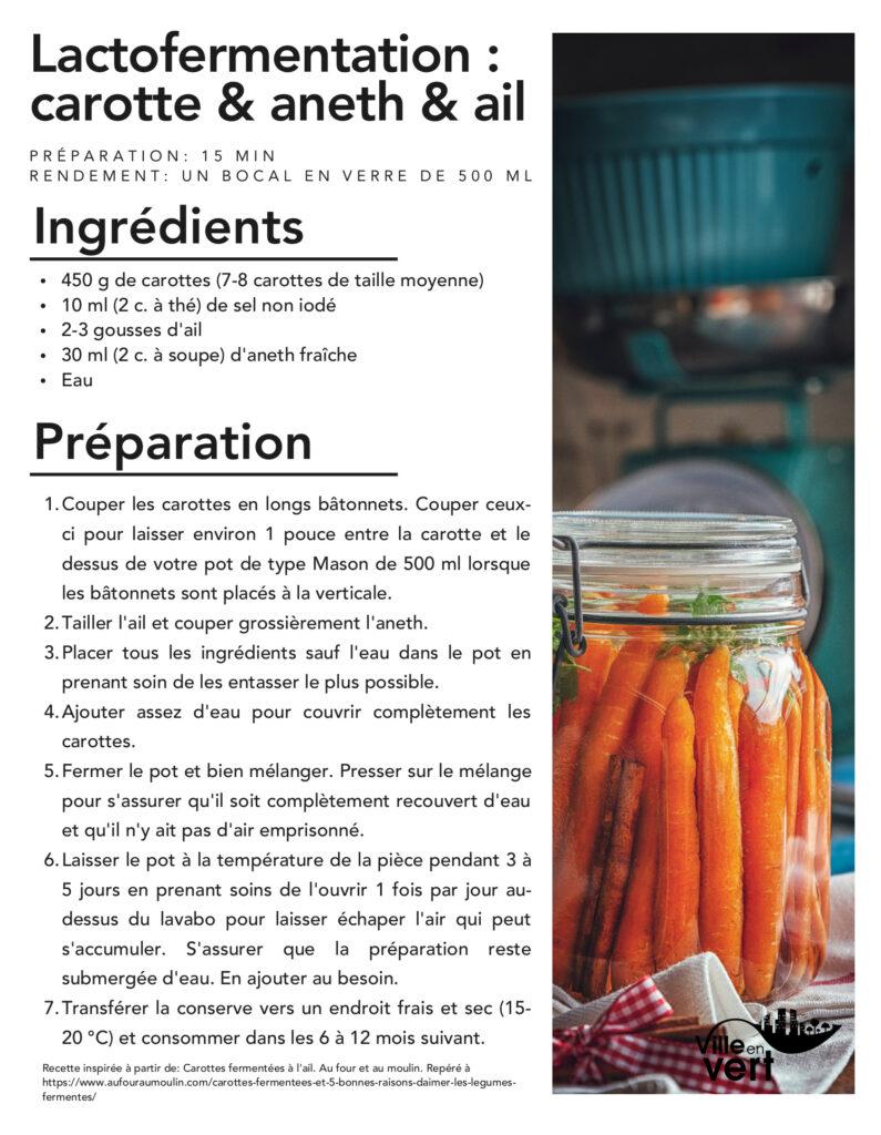 recettes jardin : Lactofermentation de carottes